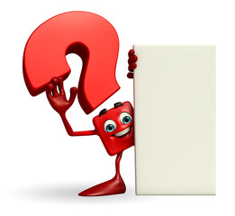 Question Mark character with sign