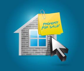 property for sale illustration design