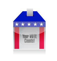your vote counts voting poll illustration design