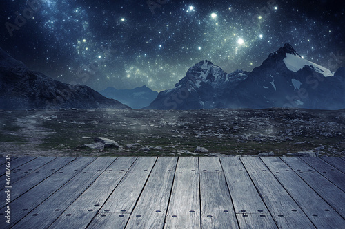 canvas print picture Mountains at Night