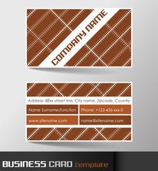 Business card template or visiting card set