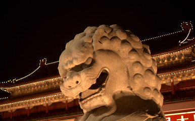 Tienanmen Gate by night, Beijing, China