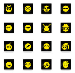 Emotions and glances icons