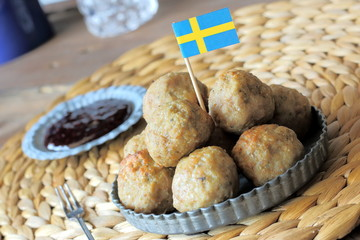 Swedish meatballs with berry sauce