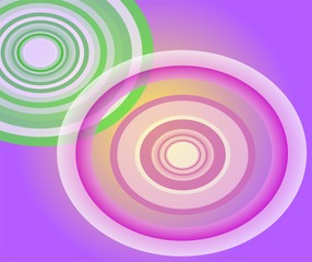 Circle Light purple background