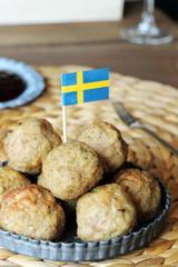 Swedish meatballs with berry sauce