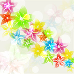 Artistic, colorful, abstract background