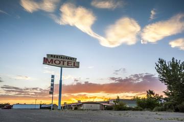 Big Restaurant Motel Sign, USA