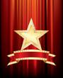 bulb banner gold star