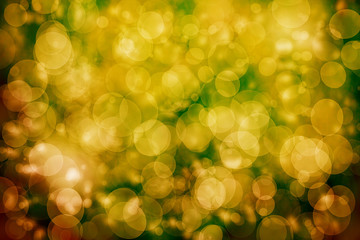 Yellow defocused lights background