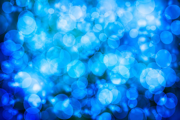 Blue defocused lights background