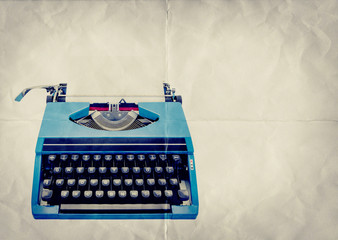 retro typewriter paper backdrop