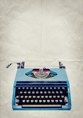 typewriter paper background
