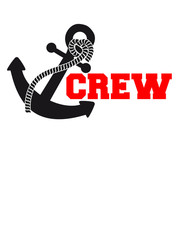 Crew Anchor Logo Design