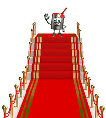Paint Bucket Character with red carpet