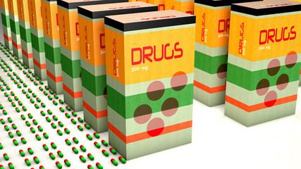 Box of medicines