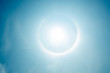 Постер, плакат: fantastic beautiful sun halo phenomenon