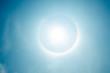 Постер, плакат: fantastic beautiful sun halo phenomenon