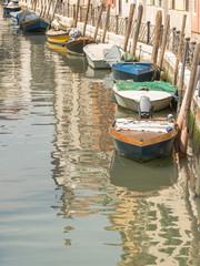 Venedig, Altstadt, Gassen Uferweg, Fischerboote, Italien
