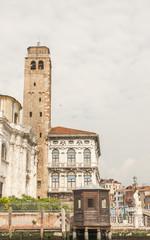 Venedig, Altstadt, historische Altstadthäuser, Canale, Italien