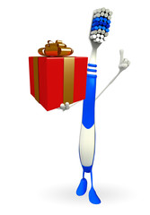 Toothbrush Character with gift box