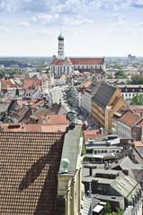 Augsburg Maximilianstraße und Ulrich St. Afra Vogelperspektive