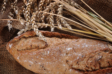 Close-up of traditional homemade bread