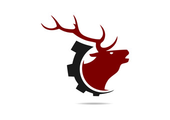 deer abstract technology logo
