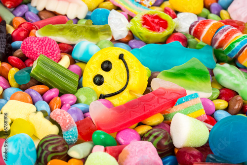 Fotobehang Snoepjes smiley sweets