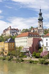 Das Städtchen Burghausen, Bayern