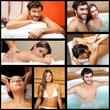 Composition of people relaxing in a spa