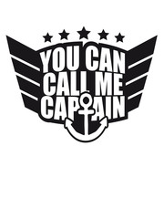 Cool You can call me Captain Logo