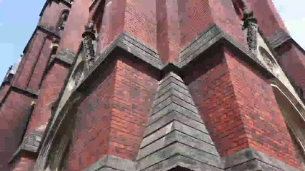 Gothic church vertical panorama