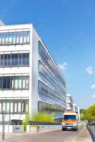 Leinwanddruck Bild Halle Saale - Klinikum