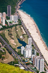 Luxury Condo Buildings in Front of the Beach in Rio