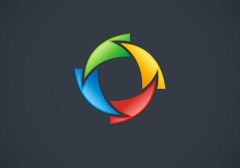 circle-arrow-abstract-vector-logo