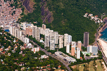 Aerial View of Luxury Highrise Condo Buildings in Rio