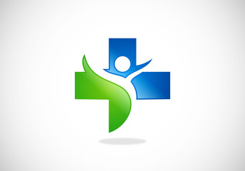 medic cross healthcare abstract vector logo
