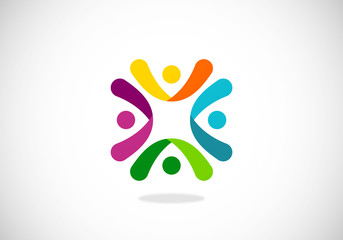 teamwork-happy-people-vector-logo