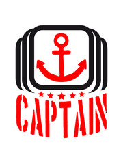 Cool Captain Anchor Logo
