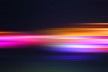 Abstract background with rushing blurred motion lights or lines