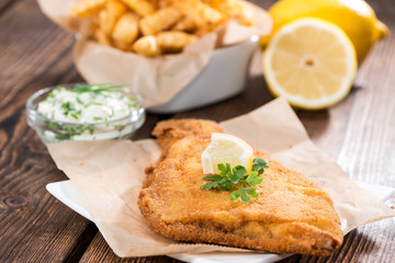 Fried Plaice with Chips