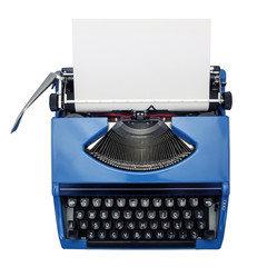 isolated typewriter