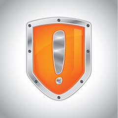 Security alert shield symbol icon