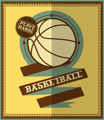 Flat design. Basketball poster.