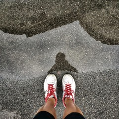 jogging  on a rainy day