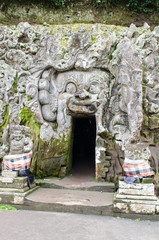 Cave mouth at Goa Gajah temple in Bali