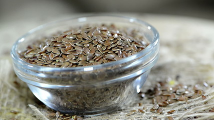 Portion of Flaxseeds (not loopable)