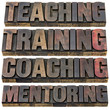 teaching, training, coaching