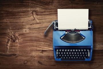 above typewriter on desk